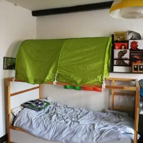 Vendbar Sengstel KURA, inklusive madras og sengetelt, 2 børnelampe, opbevaring stel med bokser