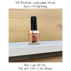 NY ProNails - nail polish 10 ml. farve 155 big bang  Pris: 1 stk. NU 50,-  Vejl. pris: 129,- (1 stk. tilbage)   Se også over 200 andre nye produkter, som jeg har til salg herinde :-)