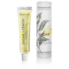 Sugar + lemon moisturizing lip scrub fra Seraphine boranicals.  Afhentes i Hellerup eller sendes med DAO 🌸