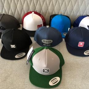 Caps fra DC, Adidas og Quiksilver. Nye stadig med tags. Pr. Stk 50kr