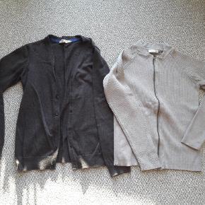 Cardigan str 146-152 Mørk grå fra H&M næsten som ny  Lys grå fra Name it brugt men pæn  Fra røgfrit og dyrefrit hjem  Samlet pris 75 kr
