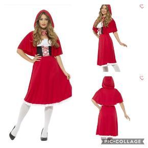 Lang rødhætte kostume Str. xs Brug 1 gang til sidste skoledag   Kan afhentes i Hårby, Skanderborg - eller sendes