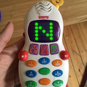 Ficher Price telefon Prisen er fast, men ved køb af 4 annoncer er den billigste gratis. Ingen røg. Kan kun afhentes på min adresse på Mimersgade - ydre Nørrebro eller sendes med gls eller post nord