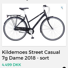 Sort Kildemoes Street dame cykel sælges. Har stået i kælder 2 1/2 år nu. Skal efterspændes og smøres vel. Men super god cykel. Er nok 8 år gammel.