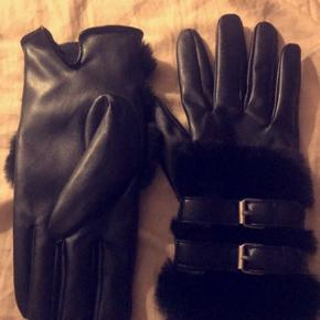 ZARA handsker med pels Str m/l