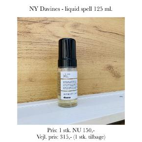 NY Davines - liquid spell 125 ml.   Pris: 1 stk. NU 150,- Vejl. pris: 315,- (1 stk. tilbage)   Se også over 200 andre nye produkter, som jeg har til salg herinde :-)