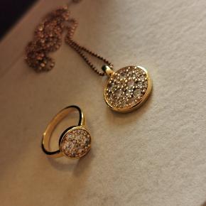 Sif Jacobs Novara halskæde Længde 70 cm  Sif Jakobs Novara ring i str 56