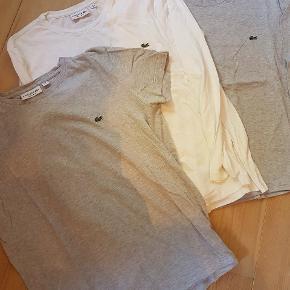 3 Lacoste t shirts. To nederste med langt ærme og en med kort. Alle str M pr stk 60 kr