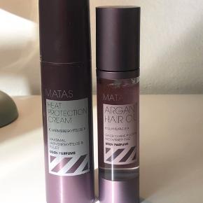 Heat protection cream er brugt meget lidt Argan hair oil er aldrig brugt
