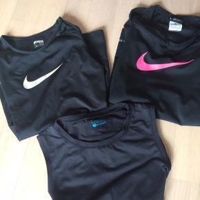 2 t-shirt Nike dri fit, 1 top Carite.  Pæn stand. Bytter ikke