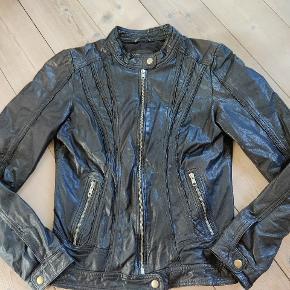 Rock and blue pels- & skindjakke