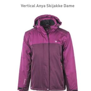 Brand: Vertical  Varetype: Skijakke Størrelse: S Farve: Bordeaux,   Lilla Oprindelig købspris: 1500 kr. Kvittering haves. Prisen angivet er inklusiv forsendelse.  Ski jacket. I was wearing it only once. Absolutely perfect condition, as new. Size 36.