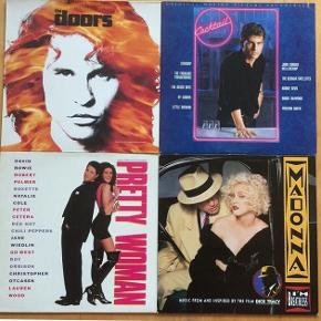 Diverse Lp'er, 20kr stk, soundtracks Cocktail, Pretty woman, Dick Tracy. NB: The Doors er solgt