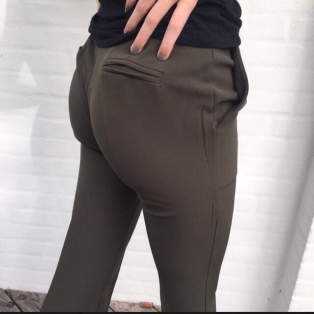 Flare bukser kaki grøn