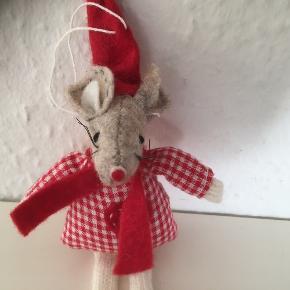 Nisse mus julepynt jul Christmas  Julemus   Søren banjonus i stof til juletræ eller gren   Som ny ca 15 cm   Sender gerne   Se flere annoncer
