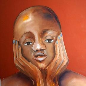 Brand: Fruelund Varetype: 2 smukke ansigter Størrelse: 60x80 Farve: mange Denne vare er designet af mig selv.  Mine malerier er nu på udsalg. Jeg skal have ryddet ud.  De er ikke dyre.  Kom med at bud.  Olie på lærred.