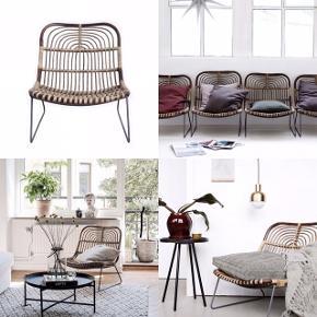 HELT NY! 1 stk super fin House doctor lounge stol, både til ude og inde.  BYD - Mindste pris 1000.-