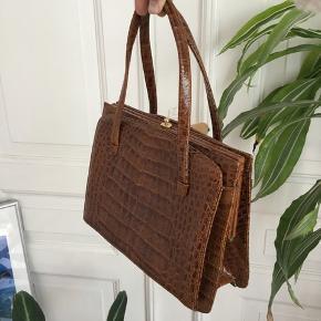 Flot vintage taske af krokodilleskind.