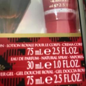 Helt nye parfumer  Pris pr stk 100,- værdi af gaveæske er 399,- Parfumen ligger mellem 90-249 online/butik , pris afhænger af evt Medlemskabsordninger !. Min pris er meget Fair da man får bodylotion og shower med også ! Har 2 æsker . Pris pr æske er 100kr  Hentes i Greve el sendes med dao via trendsale