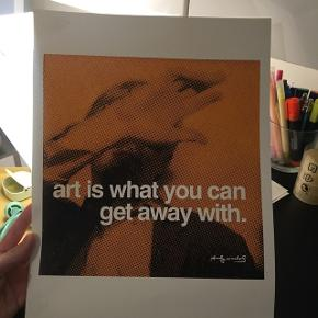 Andy Warhol poster A3 Købt i MOMA, new york