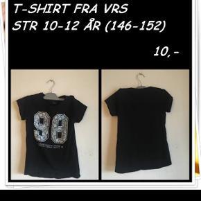T-shirt fra vrs str 10-12 år