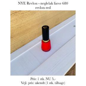 NYE Revlon - neglelak farve 680 revlon red  Pris: 1 stk. NU 5,-  Vejl. pris: ukendt (1 stk. tilbage)   Se også over 200 andre nye produkter, som jeg har til salg herinde :-)