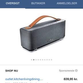 Veho bluetooth højttaler, kun brugt få gange. Retrolook med læderhåndtag
