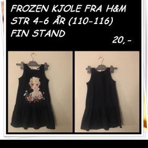 Frozen kjole fra h&m str 4-6 år fin stand