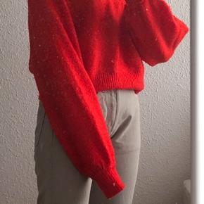 Sød rød sweater str. s byd