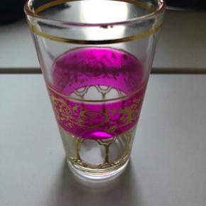 Super fine marrokanske te glas - 6 stk sælges samlet for 50kr