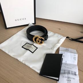 Gucci bælte, str. 85 Bredde 3,4 cm Købt i Gucci i Rom, kvittering og æske medfølger