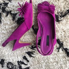 Heels, sandaler i smukkeste lilla farve