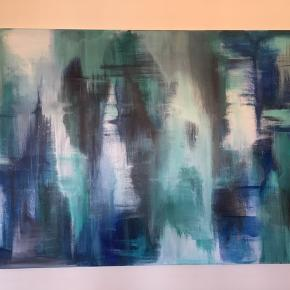 Unika maleri str 150x100 cm fra år 2018  Kan sendes