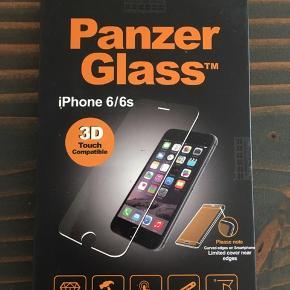 iPhone 6 panzerglass.  Beskytter skærmen mod slag og ridser. 3D-touch kompatibel, så man stadig kan anvende iPhonens Force touch.