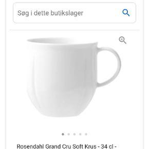 Sælger mine Rosendahl Grand Cru Soft Krus- 34 cl Porcelæn hvid nye og fejler intet overhovedet sælges uden æske  Stk. Pris er 99kr. Jeg har 8 stk. Sælges samlet til 400kr.