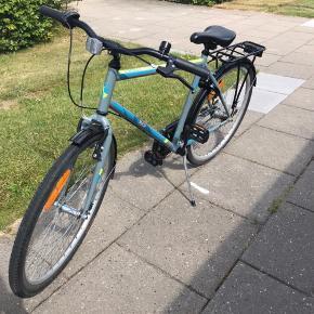 Super fin og velholdt cykel sælges.  Den er købt sidste sommer, fejler intet sælges blot da min søn er vokset fra den.  Lås medfølger samt nøgle.