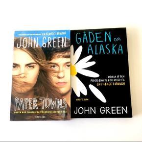 """John Green bøgerne """"Paper Towns"""" og """"Gåden om Alaska"""". Begge på dansk! Pr. stk. 50 kr. • Sælges samlet for 85,- Sender med DAO • Køber betaler fragt"""