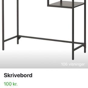 Super fint skrivebord fra IKEA - perfekt til mindre lejligheder, da der ikke tager meget plads. Sælges grundet flytning. Afhentes i Randers C :)