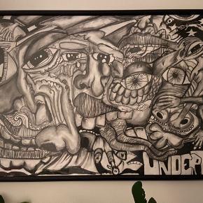Malet af den aarhusianske kunstner Undertaci. Hvis du ikke er bekendt med ham, vil jeg opfordre til en Google søgning. En anerkendt og yderst dygtig kunstner.  Byd