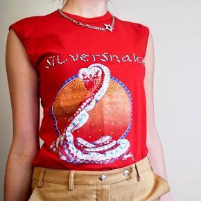 Dolce & Gabbana D&G y2k silversnake top   Så 00'er - med rhinsten foran!   Størrelse small