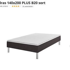 Sælger denne 140x200 seng, da jeg har fået en ny. Den fejler ingenting og er i god stand. Der er medfølgende ben, dog medfølger der ingen topmadras.