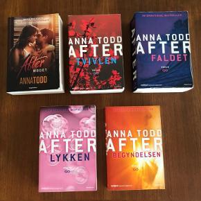 Jeg sælger denne komplette samling af After bøgerne. De er alle læst en enkel gang. Jeg sælger dem kun samlet for 300kr Jeg sender gerne