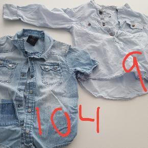 Skjorter i 98 og 104. Alle 3 for 50 kr