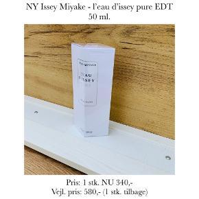 NY Issey Miyake - l'eau d'issey pure EDT 50 ml.   Pris: 1 stk. NU 340,- Vejl. pris: 580,- (1 stk. tilbage)   Se også over 200 andre nye produkter, som jeg har til salg herinde :-)