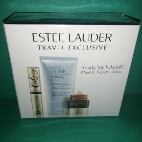 Estée Lauder Travel Exclusive. Ready for takeoff! Cleanse. Repair. Define.  Ny og uåbnet gaveæske (rejse størrelse)  Mascara 2.8 ml Cleanser 30 ml Night repair eye 5 ml