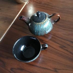 Sød lille te kande med tekop🌺🌺