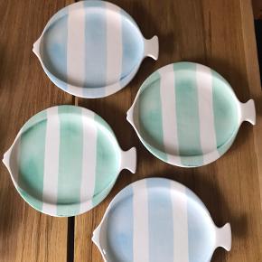 Fire sjove og flotte middags- og fisketallerkner fra Rice. Kan også afhentes i Odense C.