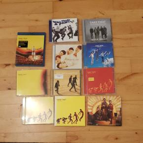 Take that samling!  Sælges enkeltvis til nedstående priser eller samlet til 225 kr  Progress live (blu-ray) til 70 kr The flood single til 10 kr  Progress (2 kopier til samme pris) til 20 kr  Beautiful world- 20 kr  Wonderland- 20 kr Progressed- 20 kr  The circus - 20 kr Everything changes - 20 kr   Never forget - 20 kr  Take that and party- 20 kr