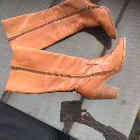 Super flotte støvler Retro look Læder