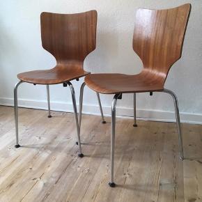 Fede retro stole i teak  Prisen er samlet  Afhentes i Aalborg  Sælges grundet flytning